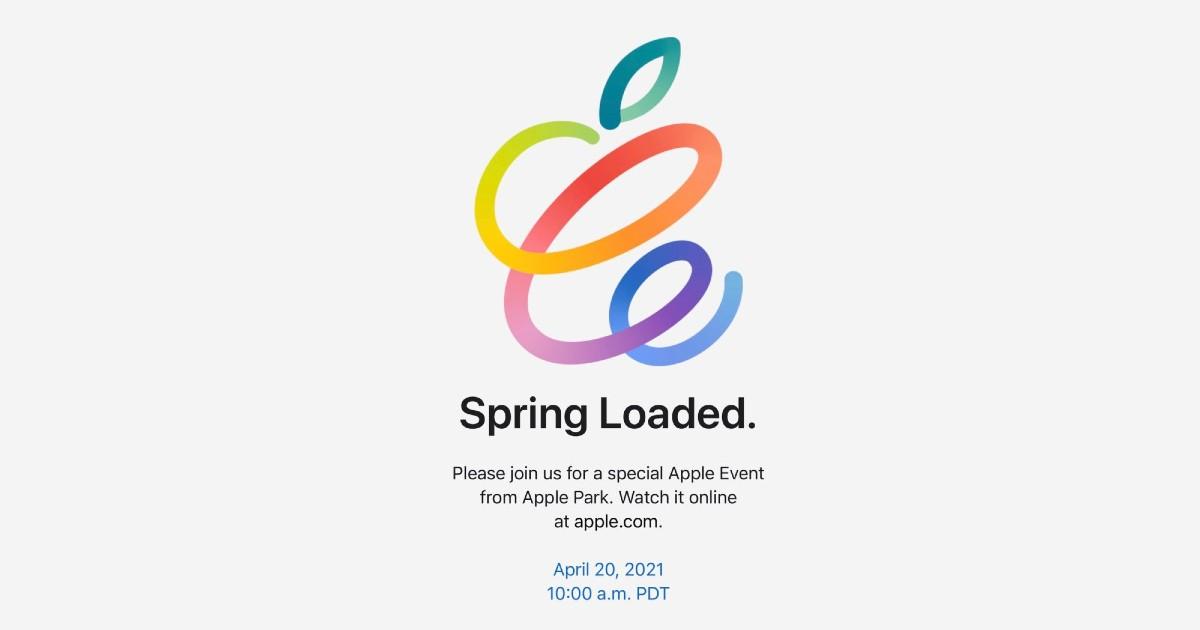 Apple Spring Loaded 2021 event header