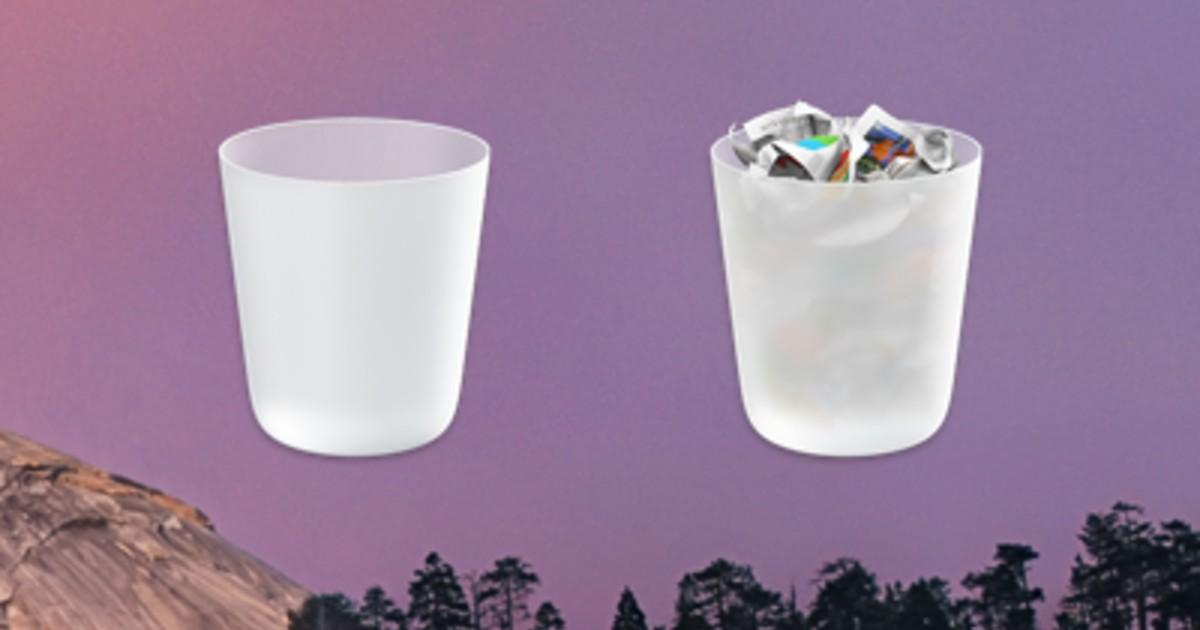 osx yosemite trash can header