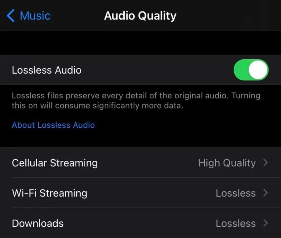Apple Music Audio Quality Setup