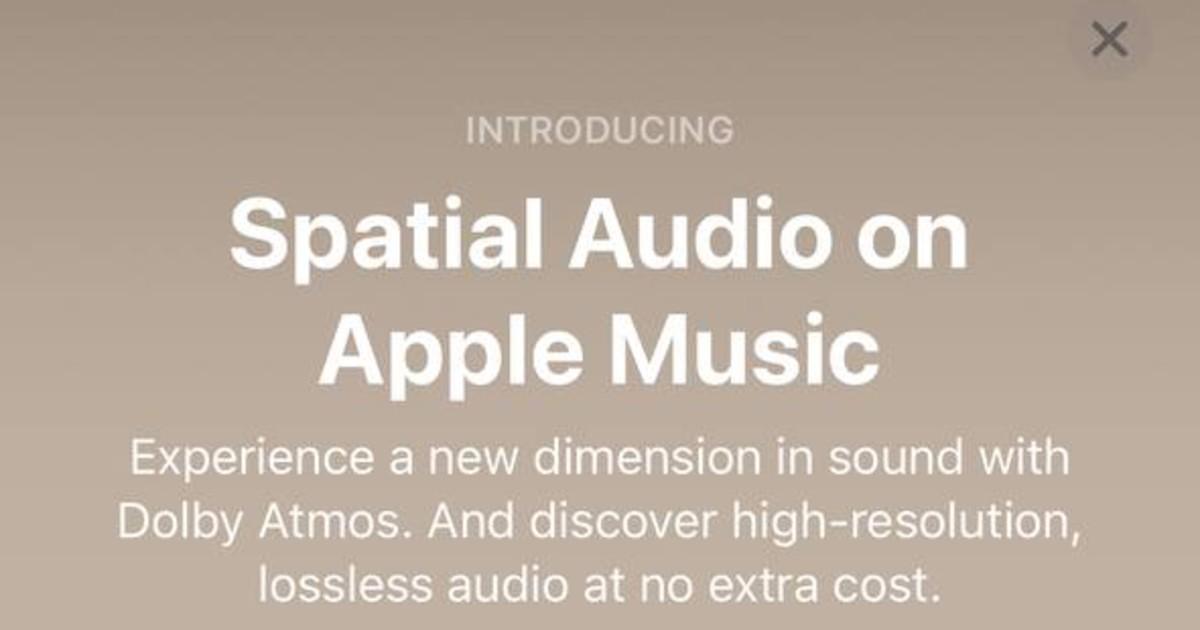 Apple Music Spatial Audio Header