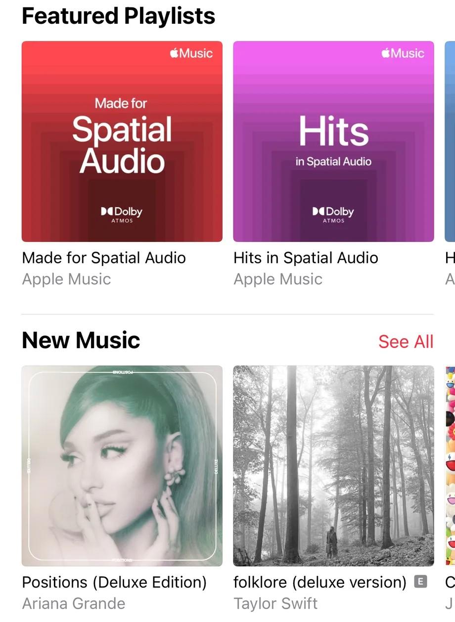 Apple Music Spatial Audio promote playlist