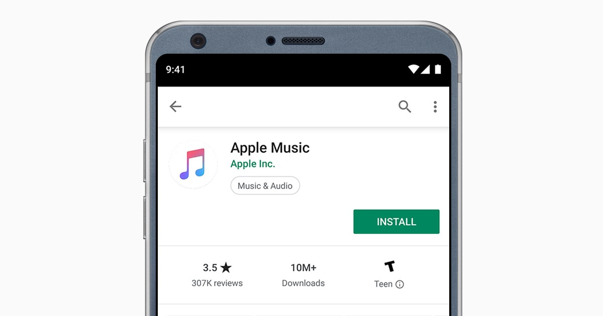 Apple Music for Android Header