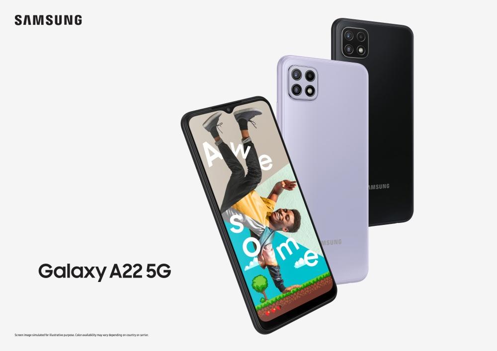 Galaxy A22 5G Main KV