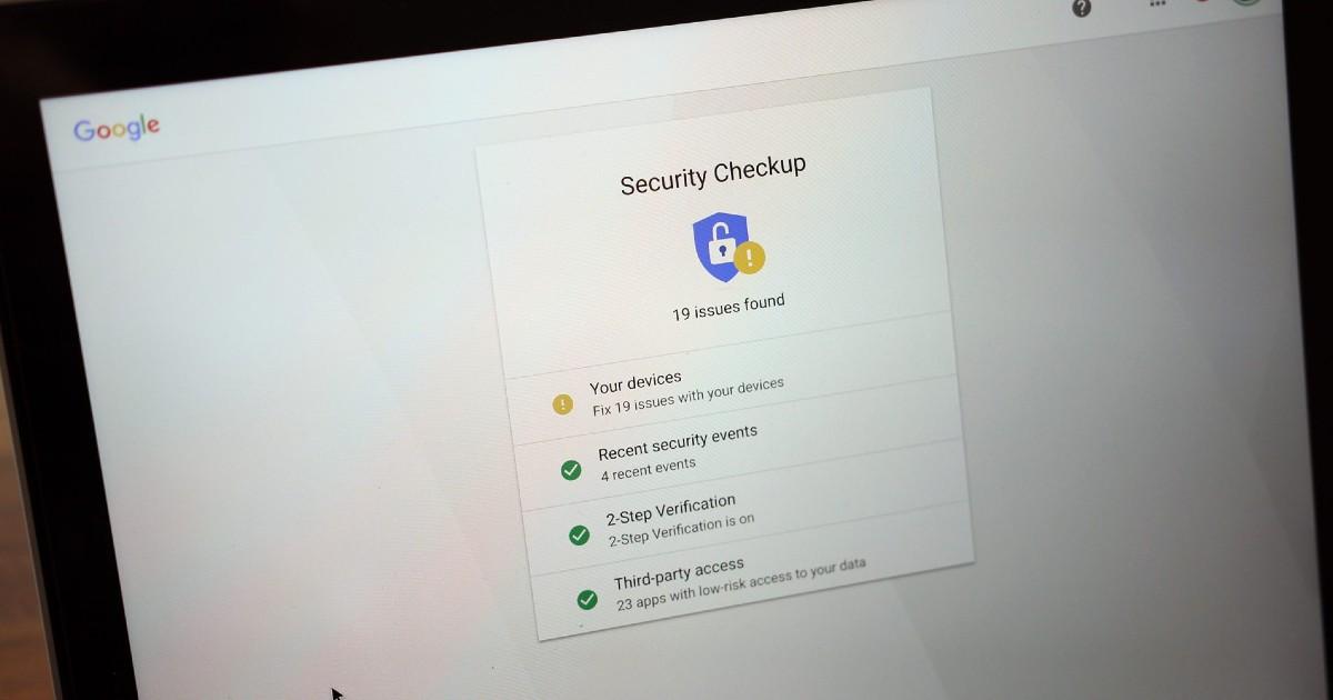Google Security Checkup Header