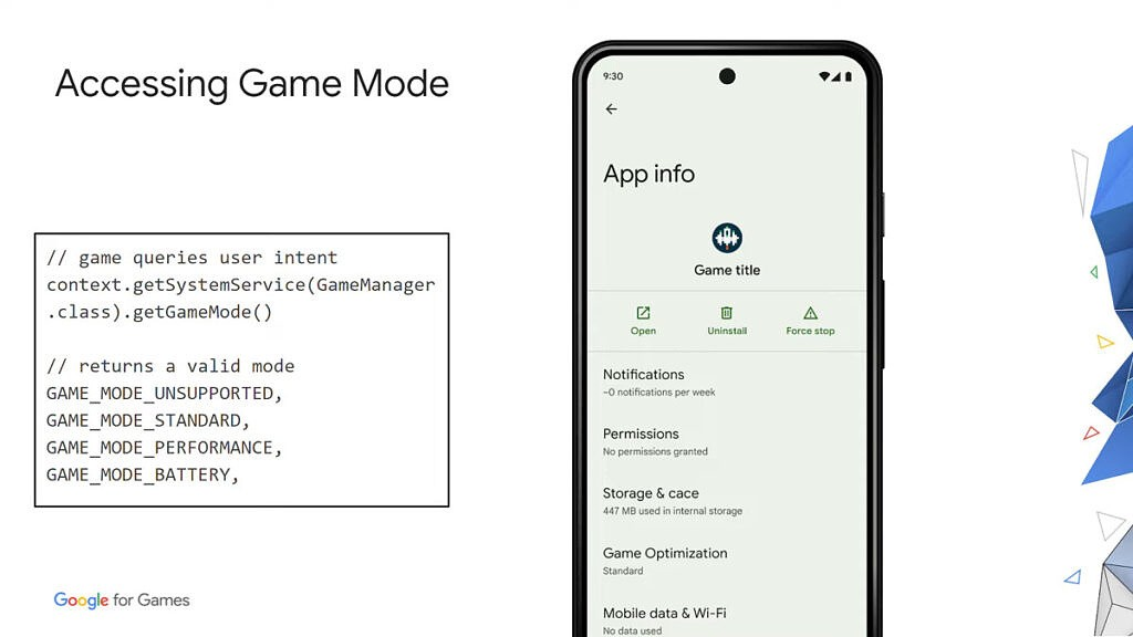 Android 12 Game Mode