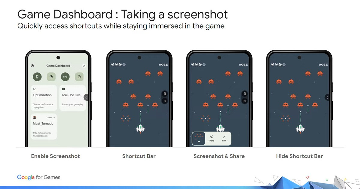 Android 12 Game dashboard header