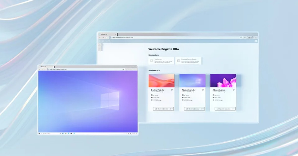 Microsoft Windows 365 Header