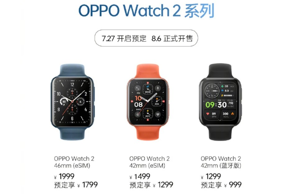 Oppo Watch 2 prices