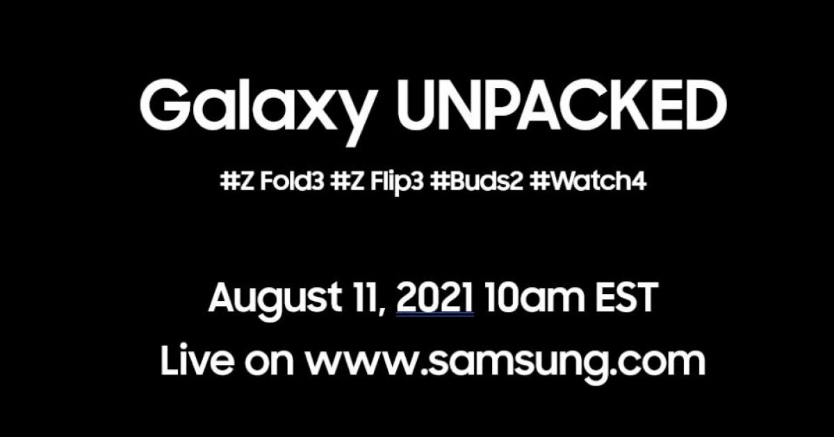 Samsung Unpacked 2021 August Header