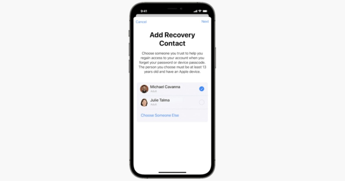 iOS 15 Add Recovery Contact