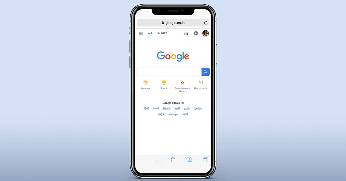 Google Search iOS Header