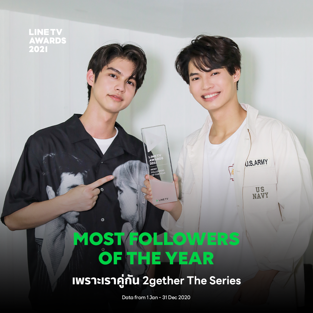 LINE TV Awards 2021 – MOST FOLLOWERS OF THE YEAR