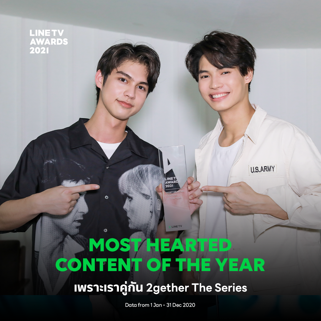 LINE TV Awards 2021 – MOST HEARTED CONTENT OF THE YEAR