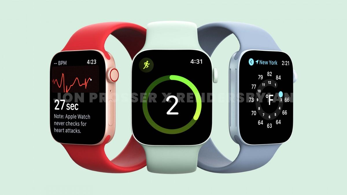 Apple Watch Series 7 Rendered