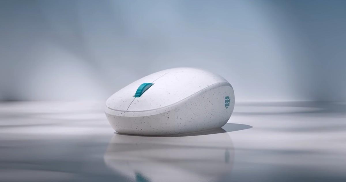 Microsoft Ocean Plastic Mouse Header