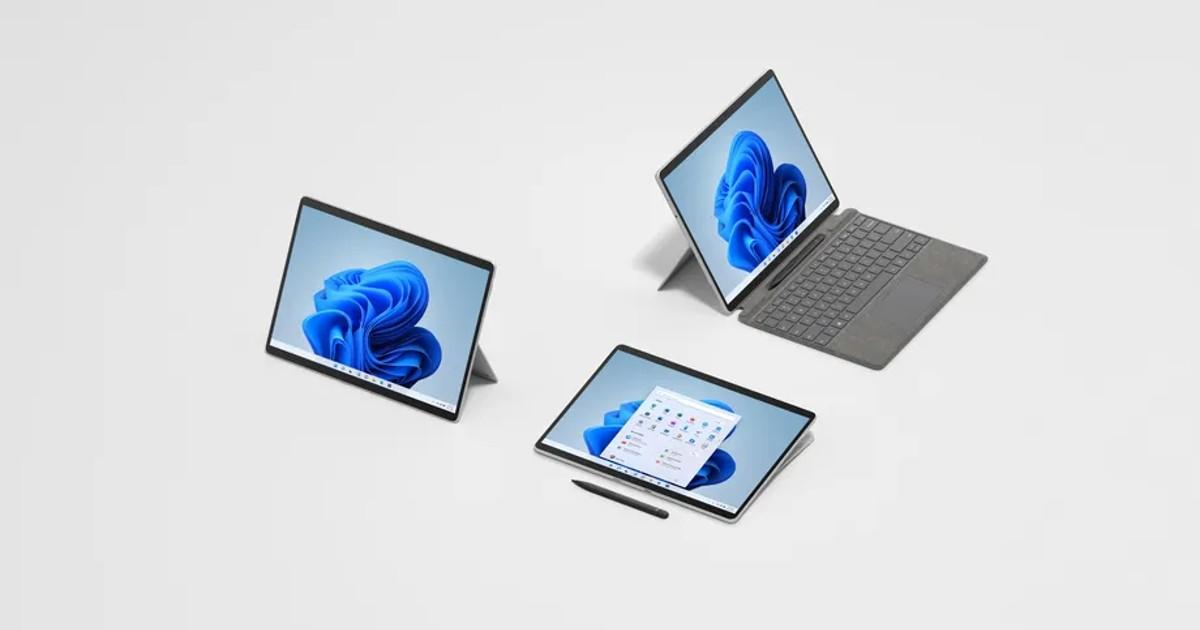Surface Pro 8 Header