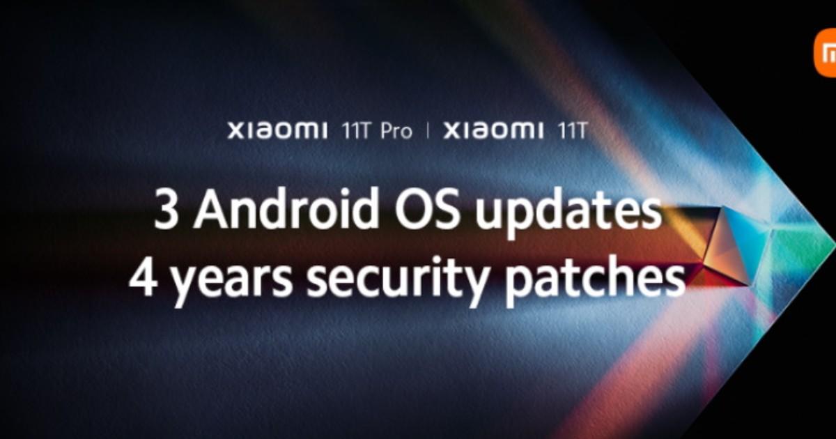 Xiaomi 11T Update guarantee header