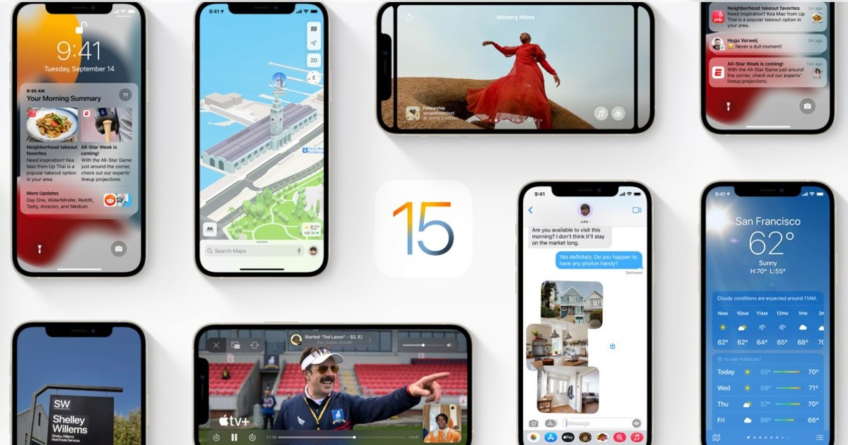 iOS 15 Header