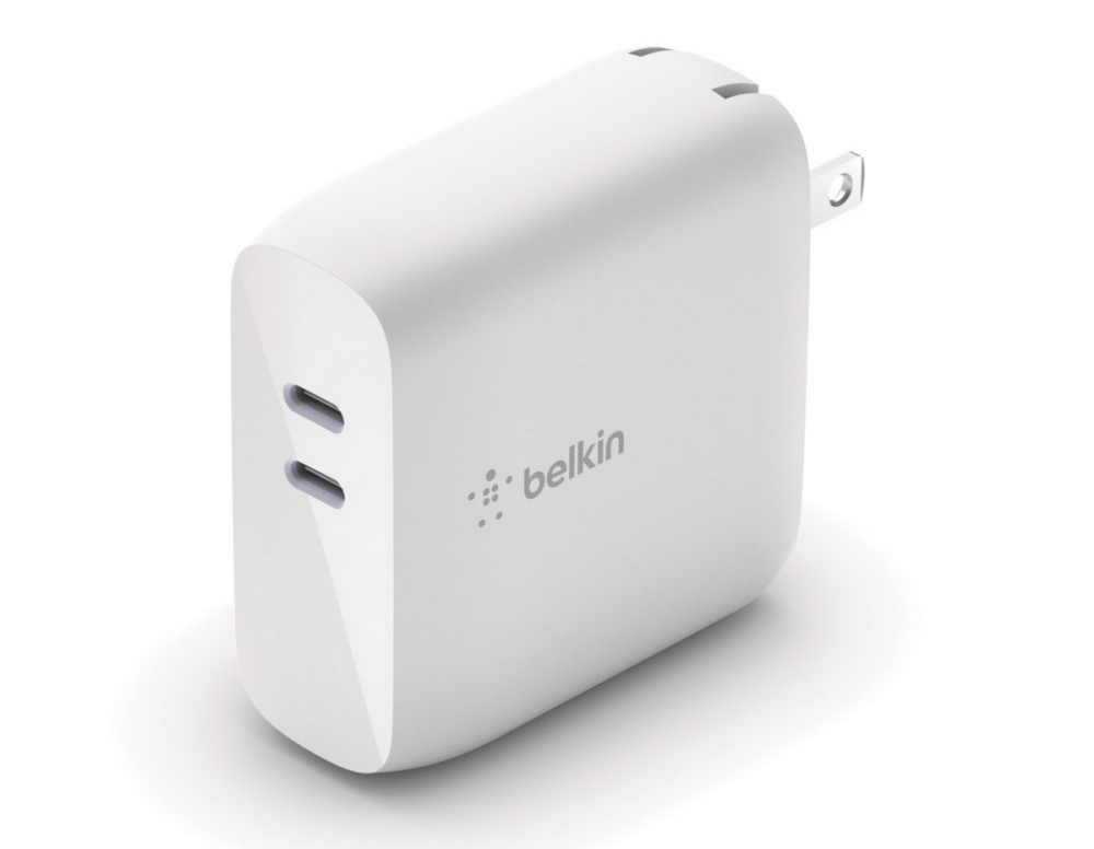 BOOST↑CHARGE™ Dual USB-C PD GaN Wall Charger 68W