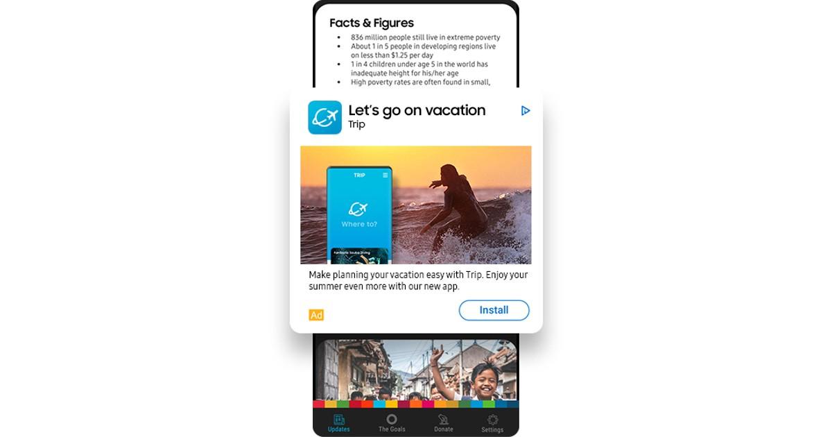 Samsung App Ad Header